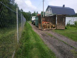 Вывоз мусора в Коломне с участка