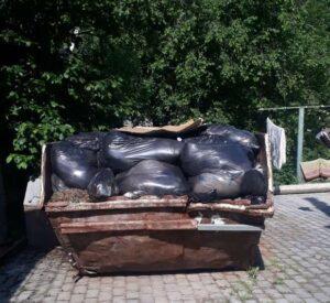 вывоз мусора контейнером в Воскресенске